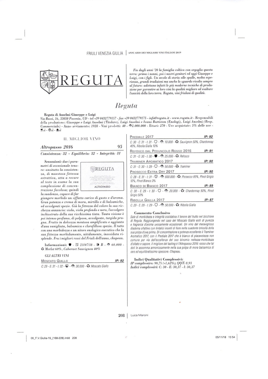 ANNUARIO DEI MIGLIORI VINI ITALIANI 2019 – LUCA MARONI