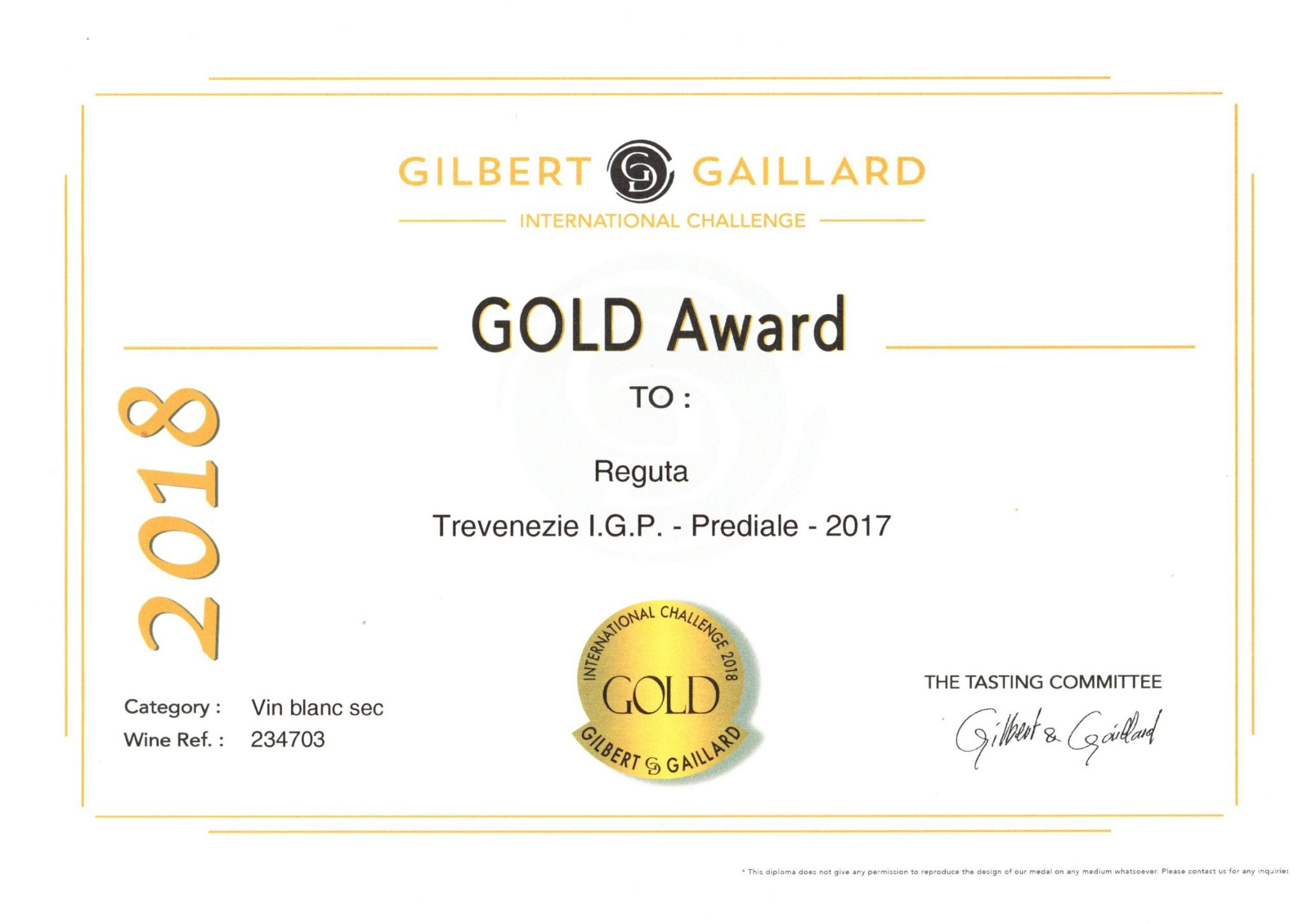 PREDIALE FROM GOLD MEDAL